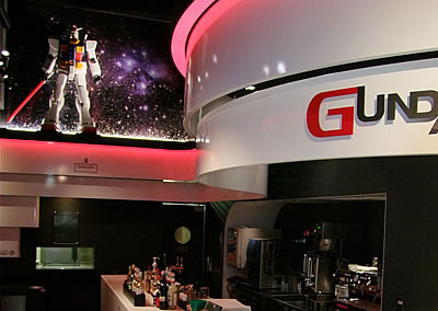 Μέσα στο Gundam Cafe - (c) photo SOTSU-SUNRISE