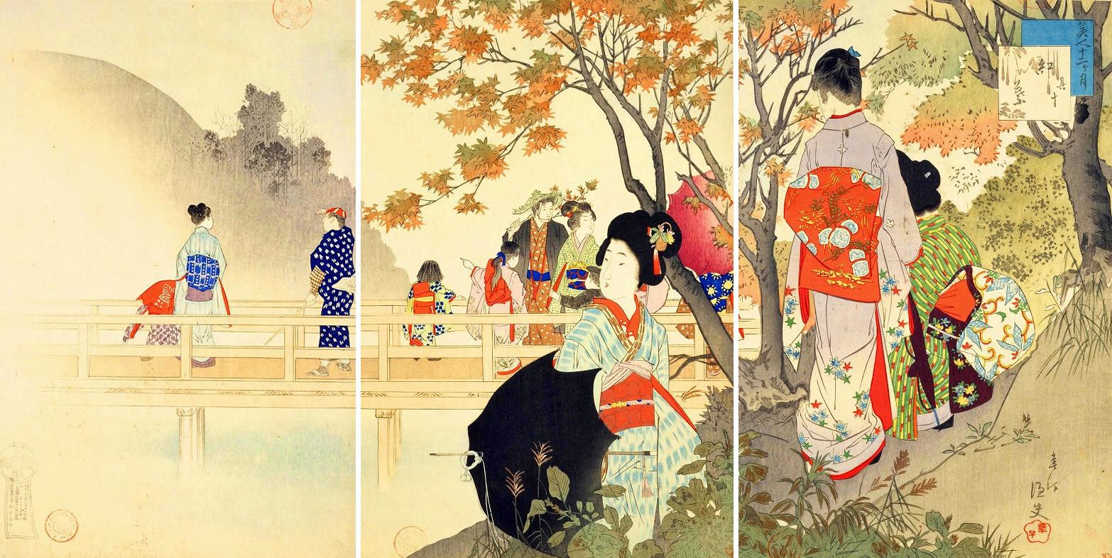 «Οκτώβριος» | Έργο του Μιγιαγκάουα Σιουντέι 宮川春汀 (1873-1914)