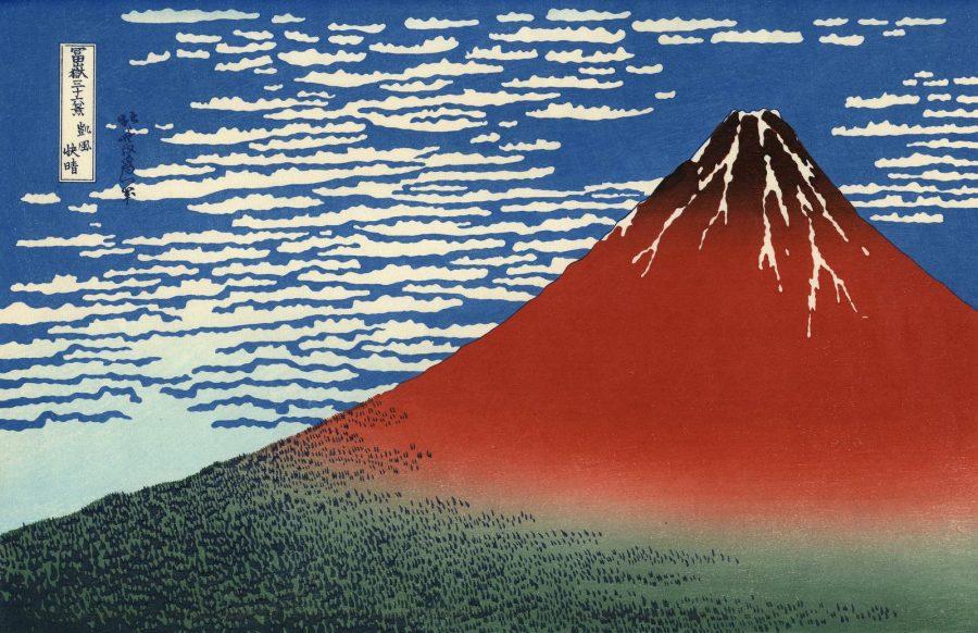 «Κόκκινο Φούτζι»   Έργο του Kατσούσικα Χοκουσάι (1760-1869)