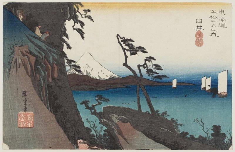 Έργο του  Ουταγκάουα Χιρόσιγκε (1797-1858) από τη σειρά «Οι 53 σταθμοί του Τοκάιντο»