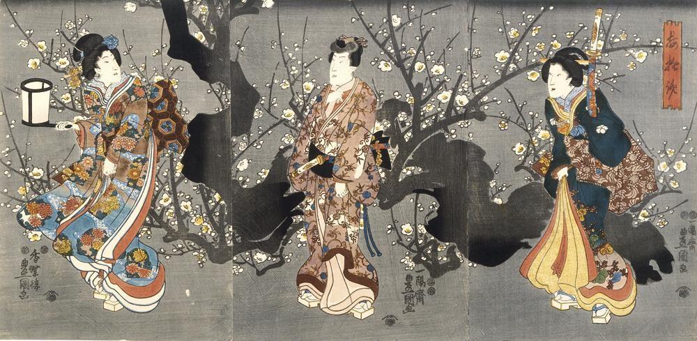 «Ούμε» (δαμασκηνιά) | Έργο του Ουταγκάουα Κουνισάντα 歌川 国貞 (1786 -1865)